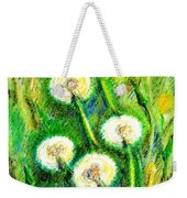 Dandelions Weekender Tote Bag by Zaira Dzhaubaeva