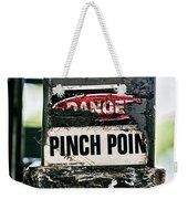 Danger Pinch Point Weekender Tote Bag