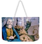 Daniel In The Lions Den Weekender Tote Bag by Currier and Ives