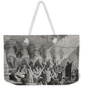Daniel Interpreting The Writing On The Wall Weekender Tote Bag by Gustave Dore