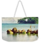 Danish Coast On The Rocks Weekender Tote Bag
