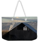 Dark Barn And Mt Mclaughlin Weekender Tote Bag