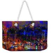 Dark City Lights Cityscape Weekender Tote Bag