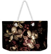 Dark Flowers Weekender Tote Bag