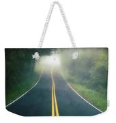 Dark Foggy Country Road Weekender Tote Bag