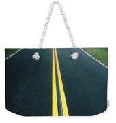 Dark Foggy Country Road Weekender Tote Bag by Edward Fielding