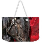 Dark Horse Against Red Dress Weekender Tote Bag
