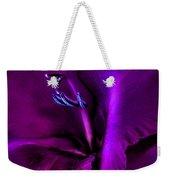 Dark Knight Purple Gladiola Flower Weekender Tote Bag by Jennie Marie Schell