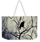Crow In Dark Lights Weekender Tote Bag