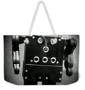 Dark Metal Robot Oil Weekender Tote Bag
