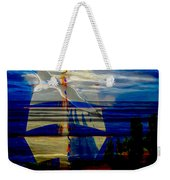 Dark Moonlight With Sails And Seagull Weekender Tote Bag