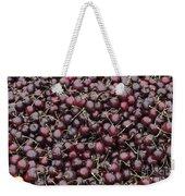 Dark Red Cherries For Sale Weekender Tote Bag