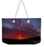 Dark Red Sunset Weekender Tote Bag