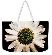 Dark Side Of A Daisy Square Fractal Weekender Tote Bag