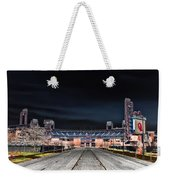 Dark Skies At Citizens Bank Park Weekender Tote Bag by Bill Cannon