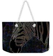 Dark Zebra Weekender Tote Bag