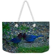 Darling I Have To Tell You A Secret-sweet Stellar Jay Couple Weekender Tote Bag