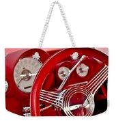 Dashboard Red Classic Car Weekender Tote Bag