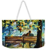 Date On The Bench Weekender Tote Bag