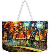 Date On The Bridge - Palette Knife Oil Painting On Canvas By Leonid Afremov Weekender Tote Bag