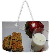 Date Squares - Snack - Dessert - Milk Weekender Tote Bag