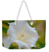 Datura Hybrid White Flower Weekender Tote Bag