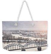 Daugava Railway Bridge Weekender Tote Bag