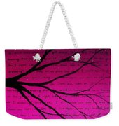 Dave Matthews Band Crush Lyric Art - Pink Weekender Tote Bag