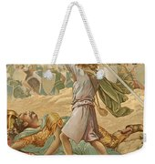David About To Slay Goliath Weekender Tote Bag by John Lawson