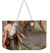 David And Goliath Weekender Tote Bag by Arthur A Dixon