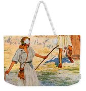 David And Goliath Weekender Tote Bag by William Henry Margetson