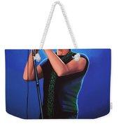 David Bowie 2 Painting Weekender Tote Bag