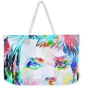 David Bowie - Watercolor Portrait.6 Weekender Tote Bag
