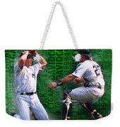David Cone Yankees Perfect Game 1999 Zoom Weekender Tote Bag