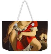 David Contemplating The Head Of Goliath Weekender Tote Bag