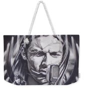 David Gilmour Of Pink Floyd - Echoes Weekender Tote Bag by Sean Connolly