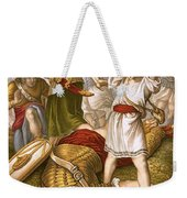 David Slaying Goliath Weekender Tote Bag