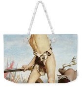 David Victorious Over Goliath Weekender Tote Bag