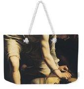 David Victorious Over Goliath Weekender Tote Bag by Michelangelo Merisi da Caravaggio