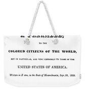 David Walker (1785-1830) Weekender Tote Bag