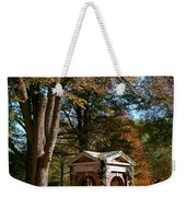 Davidson College Old Well In Autumn Weekender Tote Bag