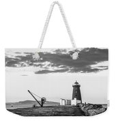 Davit And Lighthouse On A Breakwater Weekender Tote Bag