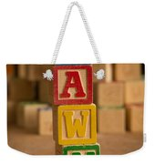 Dawn - Alphabet Blocks Weekender Tote Bag