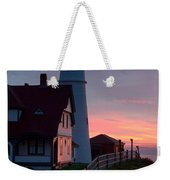 Dawn At Portland Lighthouse Weekender Tote Bag