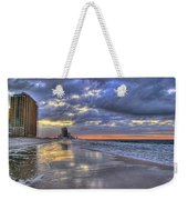 Dawn At The Cottages Of Romar Weekender Tote Bag