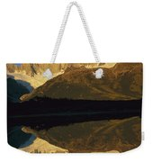 Dawn Fitzroy Massif Reflection Patagonia Weekender Tote Bag