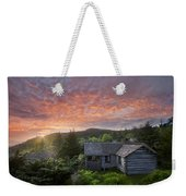 Dawn Over Leconte Weekender Tote Bag by Debra and Dave Vanderlaan