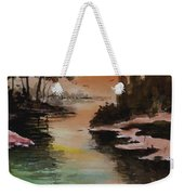 Dawn Snow On A Sunny Morning Weekender Tote Bag