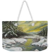 Dawning Of A Winter Day Weekender Tote Bag