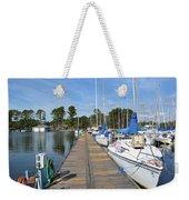Sailboats On The Boardwalk Weekender Tote Bag